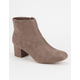 SODA Faux Suede Womens Mod Boots