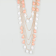 FULL TILT Coral Teardrop 4 Row Necklace