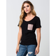 KROCHET KIDS Womens Pocket Tee