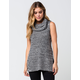 FULL TILT Cowl Neck Womens Sweater Tank