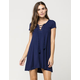 SOCIALITE Ribbed Lace Up Dress