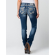 MISS ME Dia Womens Straight Fit Jeans