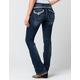 MISS ME Womens Rhinestone Bootcut Jeans