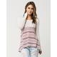 BLU PEPPER Woven Knit Womens Sweater