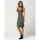 SAY WHAT? Ribbed Bodycon Midi Dress