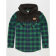 KEY STREET Cambridge Mens Hooded Flannel Shirt