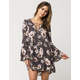 BLU PEPPER Watercolor Floral Dress