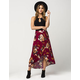 BLU PEPPER Floral Print Maxi Skirt