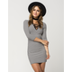 FULL TILT Lace Up Ribbed Dress