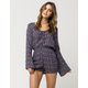 FULL TILT Medallion Lace Up Womens Romper