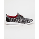 TOMS x Prabal Gurung Black Snow Leopard Del Rey Womens Shoes