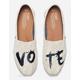 TOMS Canvas Vote Classic Womens Shoes