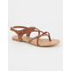 SODA Criss Cross Braided Womens Sandals