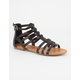 SODA T-Strap Back Zip Womens Gladiator Sandals