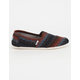 TOMS Multi Stripe Woven Wool Womens Classic Slip-Ons