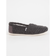 TOMS Cable Knit Womens Classic Slip-Ons