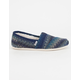 TOMS Multi Stripe Shearling Womens Classic Slip-Ons