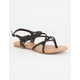 SODA Criss Cross Braided Womens Sandals