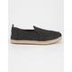 TOMS Black Washed Womens Alpargata Shoes