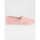 TOMS Washed Twill Womens Classic Slip-Ons