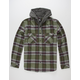 QUIKSILVER Snap Up Mens Hooded Flannel Shirt