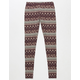 FULL TILT Linear Paisley Girls Leggings