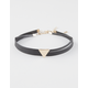 2 Piece Triangle Leather Chokers