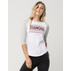 DIAMOND SUPPLY CO. Subtitle Womens Raglan Tee