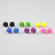 FULL TILT 6 Pair Epoxy Rose Earrings