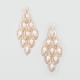 FULL TILT Filigree Oval Bead Chandelier Earrings