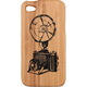 Glam Natural Wood/Bamboo Vintage Camera iPhone Case