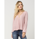 SOCIALITE Surplice Womens Top