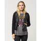 FULL TILT Faux Leather Knit Womens Jacket