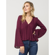 FULL TILT Empire Womens Peasant Top