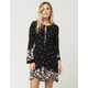 FULL TILT Floral Keyhole Dress
