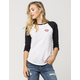 FULL TILT Kiss My Patch Womens Raglan Tee
