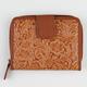 Flower Embossed Mini Wallet