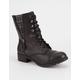 SODA Side Zip Womens Combat Boots