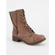 SODA Side Zip Womens Combat Boots