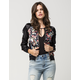 ALMOST FAMOUS Floral Womens Bomber Jacket
