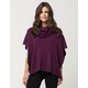 WOVEN HEART Cowl Neck Womens Poncho