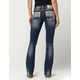 MISS ME Golden Sunset Womens Bootcut Jeans