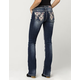 MISS ME Flannel Fusion Womens Bootcut Jeans