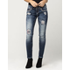 MISS ME Flannel Fusion Womens Skinny Jeans