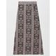 FULL TILT Floral Print Slit Girls Maxi Skirt
