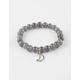 FULL TILT Moon Cutout Beaded Bracelet