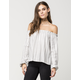 FULL TILT Speckled Stripe Off The Shoulder Womens Top