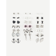 FULL TILT 20 Pairs Anchor Bow Stud Earrings