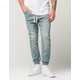 EAST POINTE Mens Knit Denim Jogger Pants