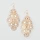 FULL TILT Filigree Stone Chandelier Earrings